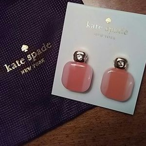 NWT KATE SPADE BLUSH COLOR BLOCK EARRINGS